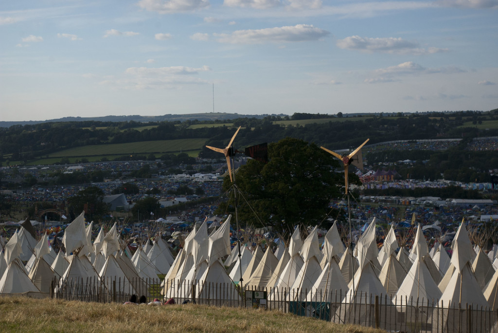 V3 Power wind turbines at Glastonbury